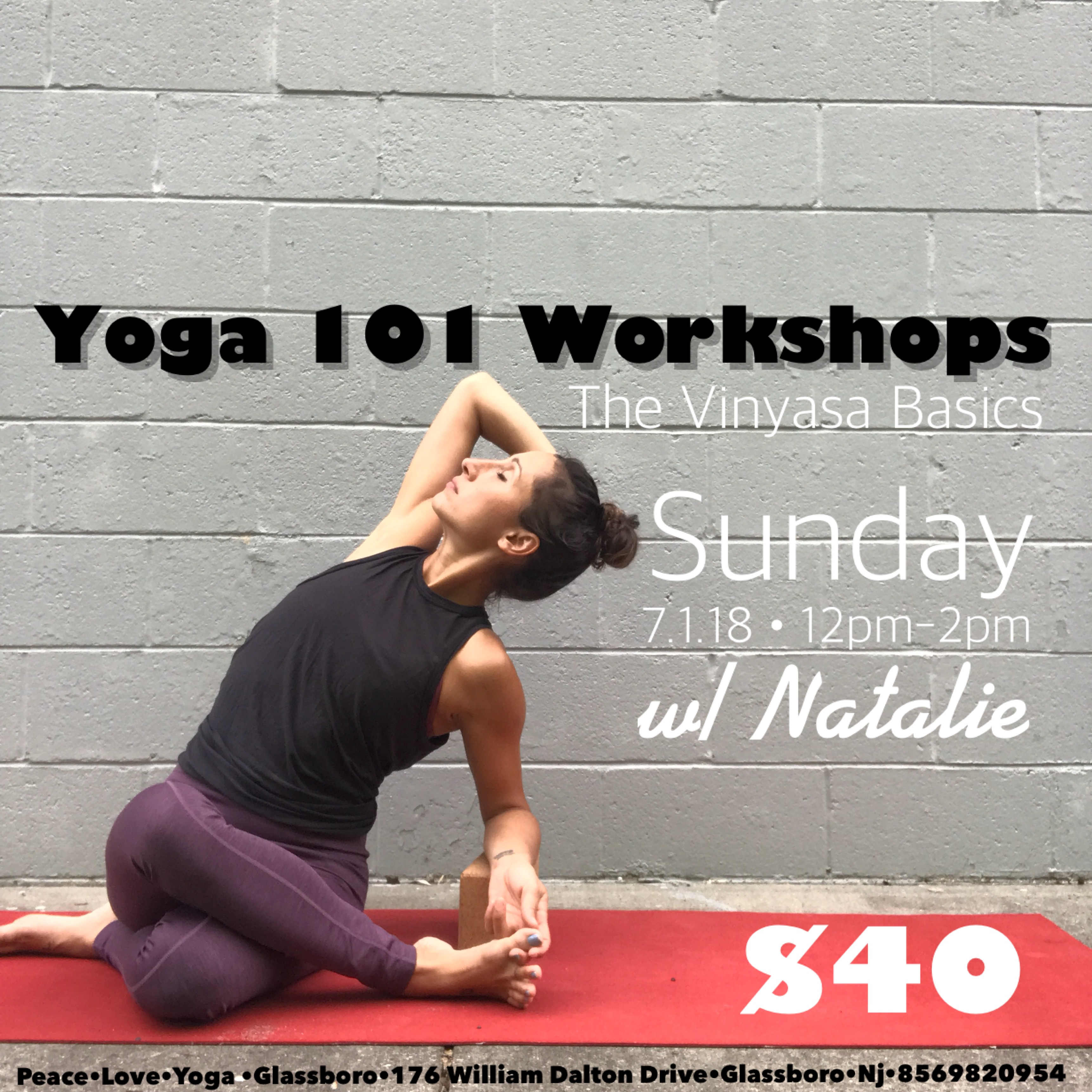 Workshop Peace Love Yoga Studios